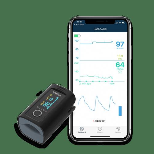 Smart Fingertip Pulse Oximeter with iPhone App