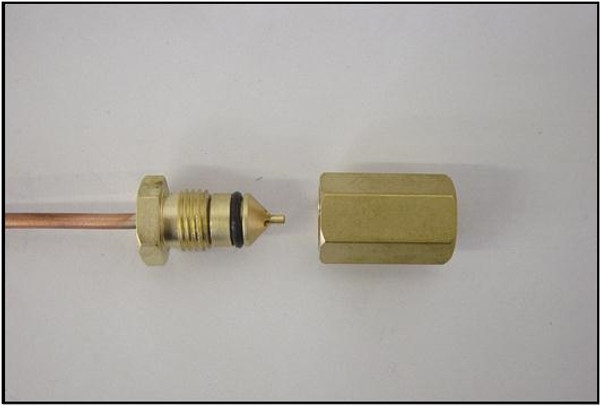 """4110-470-93, Remote Pressure Line Valve Assembly with tubing, 93""""."""