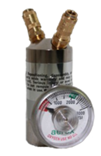 400R2G, Regulator, Aerox, 2 outlet with gauge