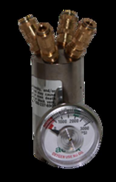 400R4G, Regulator, Aerox, 4 outlet with gauge