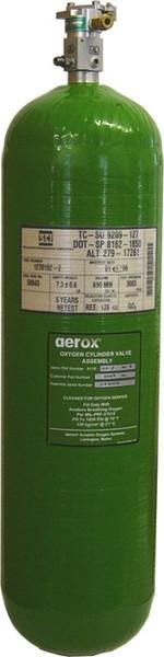 4110-120-03-1, Cylinder/Valve assembly 77 cubic foot composite kevlar bottle Remote Regulator.