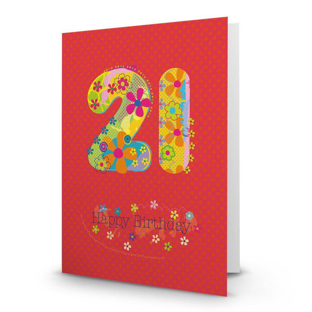 Happy Birthday - 21 - AA100
