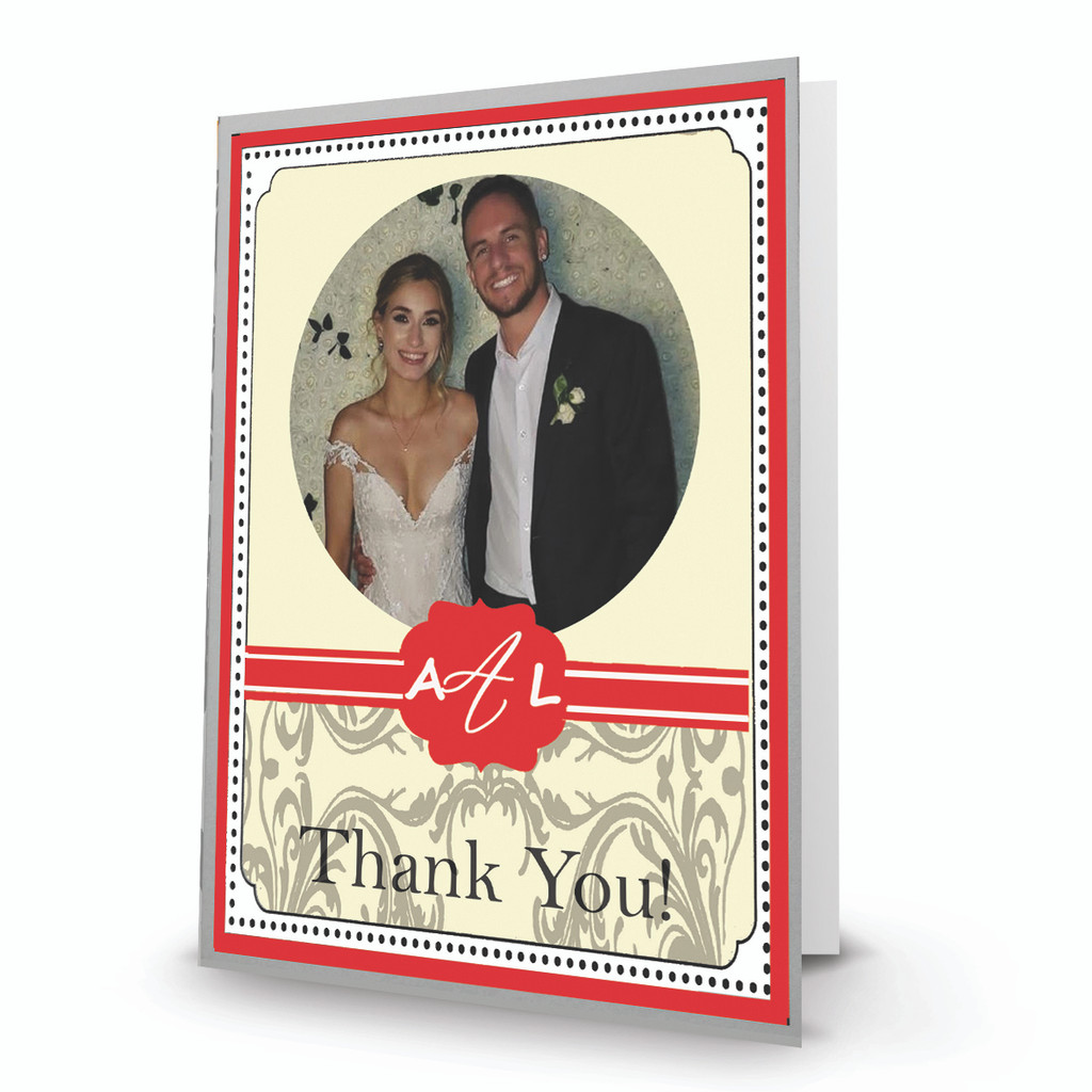 Red Thank You Portrait- Box Mailed To You (BMTY)