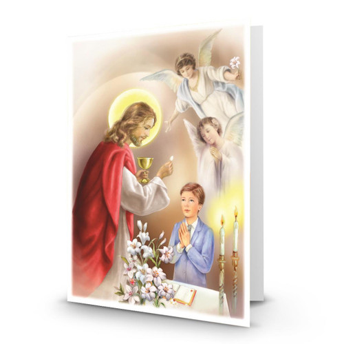 Jesus Serves Communion to a Boy