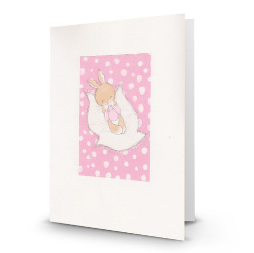 Baby Girl Bunny on Pillow