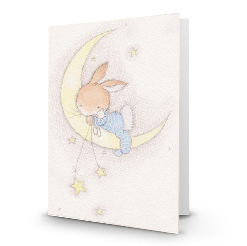 Baby Boy Rabbit Crescent Moon