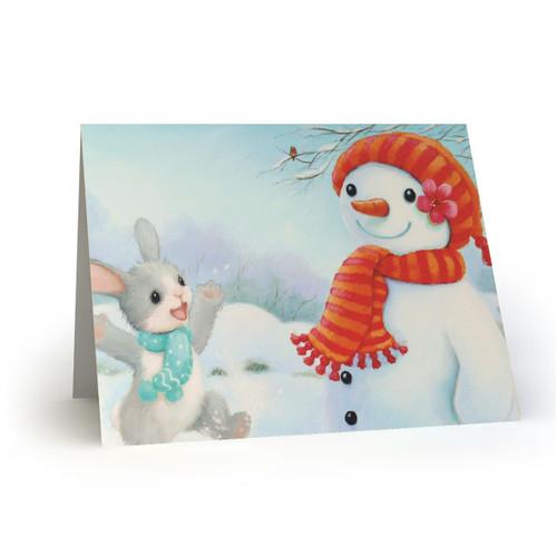 Bunny Rabbit and Snowman