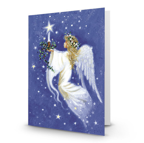 Angel Presenting Star Candle