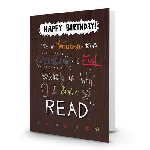 Happy Birthday - Drinking is Evil - AA100