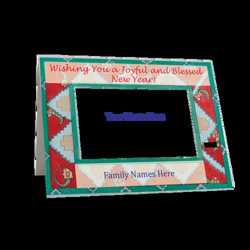 """Artist Signature Holiday Photo Card  - """"Joyful New Year """"- in Set-Folded -Box Mailed"""
