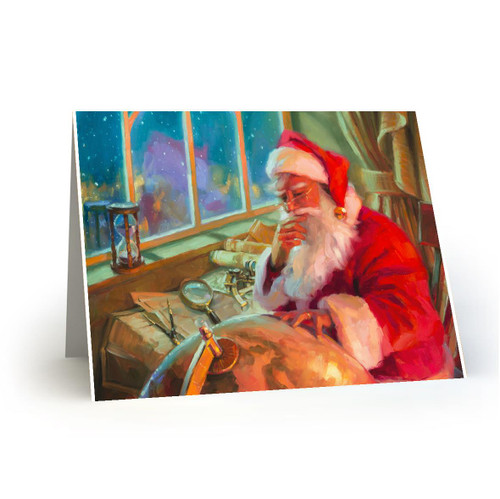 World Traveler - Artist Premier Holiday Card in Sets - Box Mailed to You - BMTY