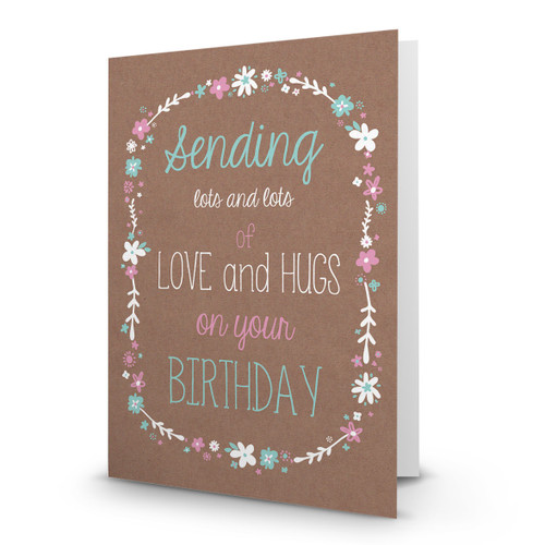 Happy Birthday - Love and Hugs - AA100