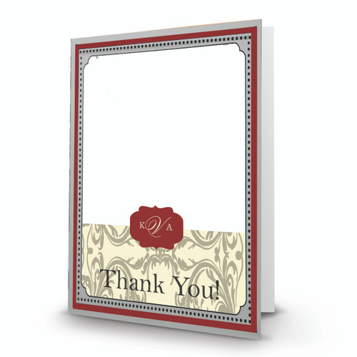 K & A Thank You Photo Card 24 Folded Portrait - BMTY