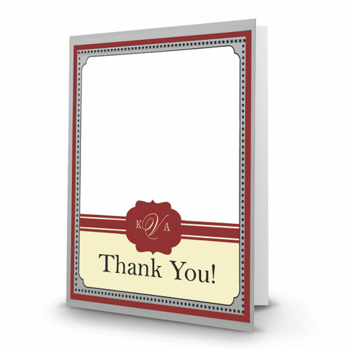 K & A Thank You Photo Card 25 Portrait Folded - BMTY