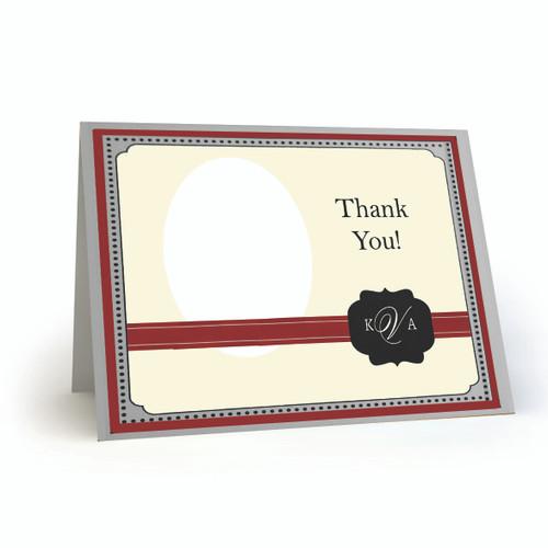 K & A Thank You Photo Card 21 Landscape Folded - BMTY