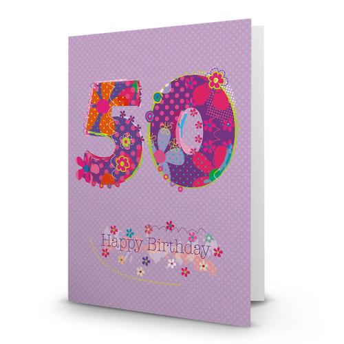 Happy Birthday - 50 - AA100