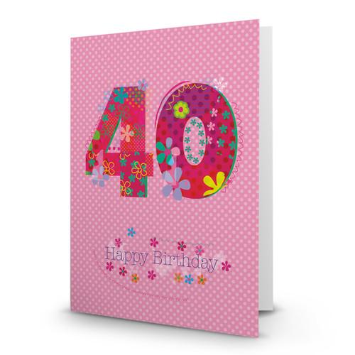 Happy Birthday - 40 - AA100