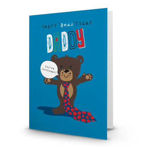 Happy 'Bear'thday Daddy - AA100