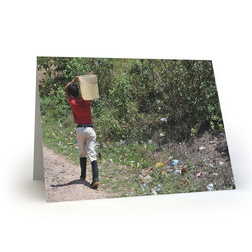 Boy Fetching Water to His Home in Jinotega, Nicaragua