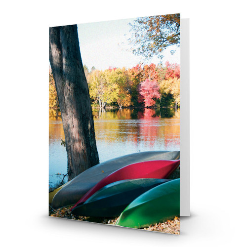 Canoes on Bank in Orono - CC100