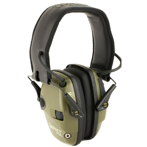 Impact Sport, Electronic Earmuff, Folding, OD Green