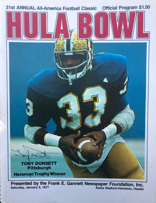 1977 Hula Bowl Program