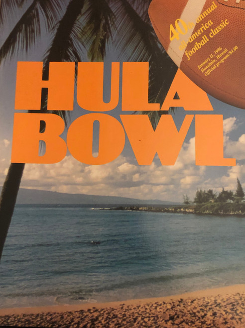 1986 Hula Bowl Program