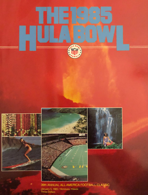 1985 Hula Bowl Program