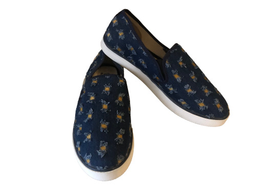 Floral Jean Style Shoe