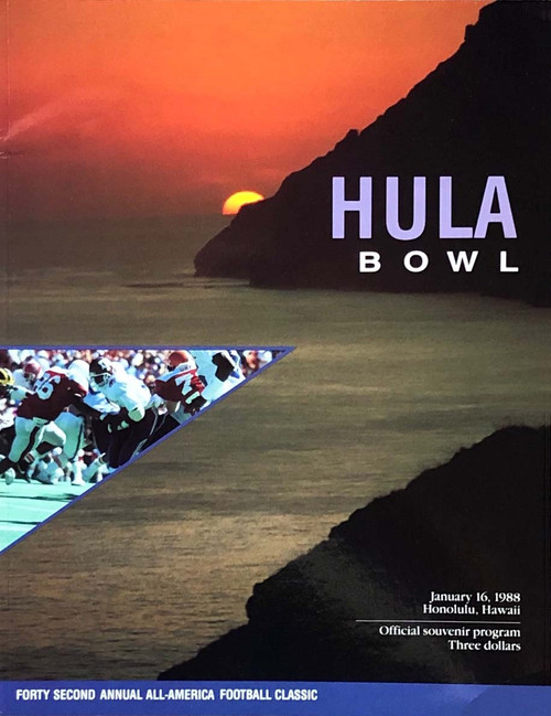 1988 Hula Bowl Program