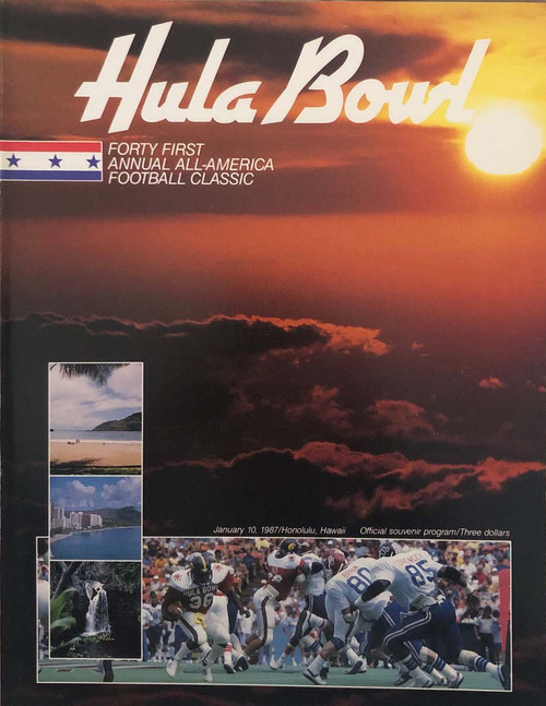 1987 Hula Bowl Program
