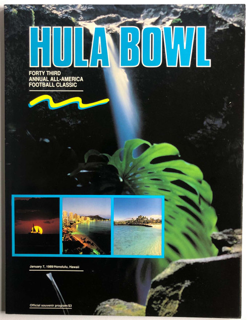 1989 Hula Bowl Program