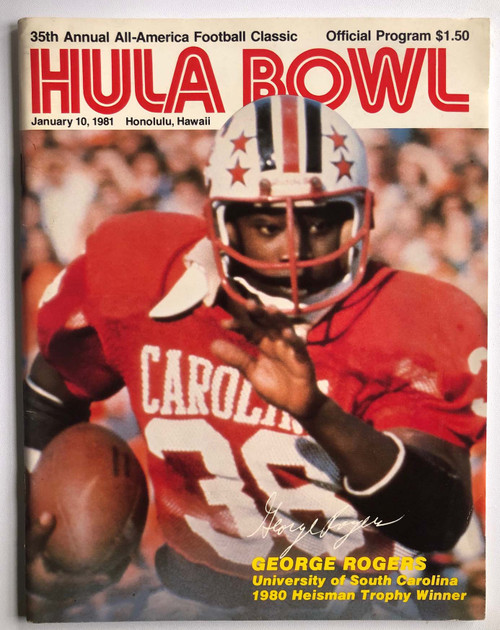 1981 Hula Bowl Program