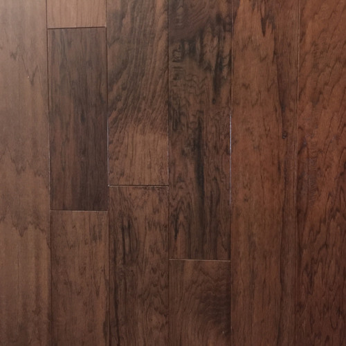 """Mullican Lincolnshire Sculpted Cabin 3/8"""" x 5"""" x RL Hickory Champagne-$3.39 sq ft."""