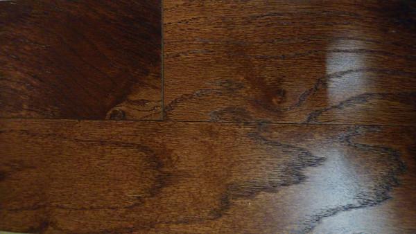 "Mohawk Oak Gunstock 3/8"" x 5"" Engineered Hardwood - $1.99 sq. ft."