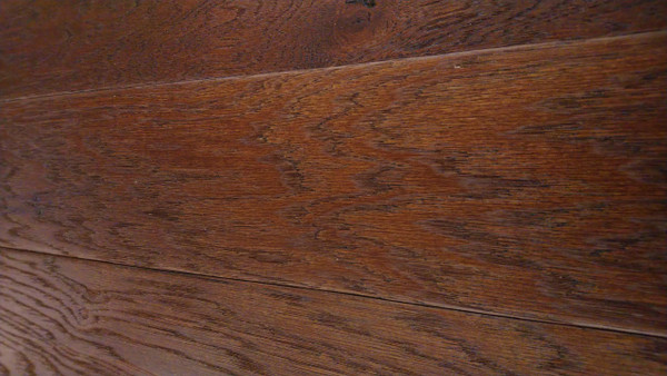 "Mohawk Coffee Bean Hickory Wirebrush 3/8"" x 5"" Engineered Hardwood - $2.99 sq. ft."