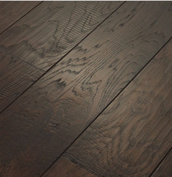 "Heritage American Valor Hickory Handscrape Black Coffee 1/2"" x 7.5"" Engineered Hardwood Flooring -  $4.89 sq. ft."