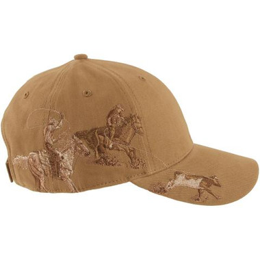 Team Roping Embroidered Cap