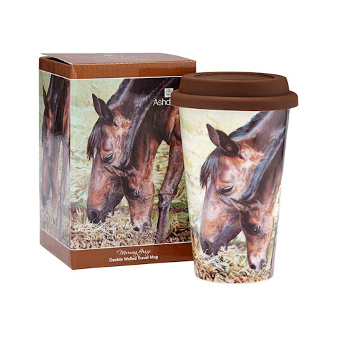 Beauty of Horses Morning Graze Travel Mug