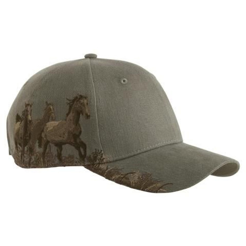 Wild Horses Embroidered Cap