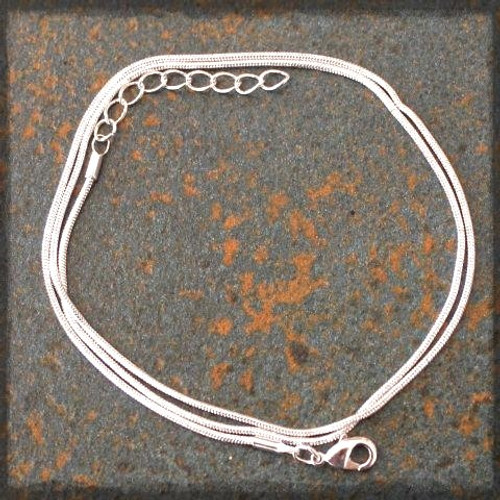 Silver Plated Snake Chain Necklet