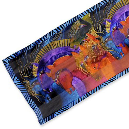Wild Horses of Fire Silk Scarf