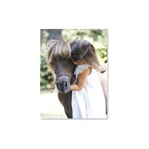 Friendship Card - Girl Hugging Pony