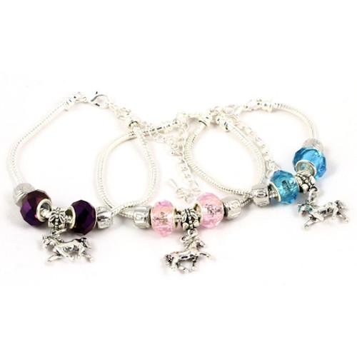 European Style Horse Charm Bracelet - Chain