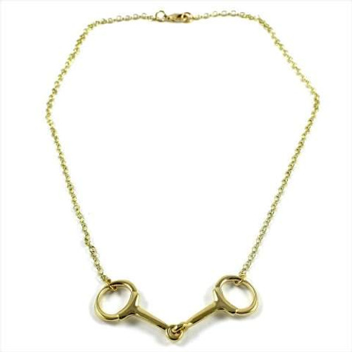 Snaffle Bit Necklace - Gold