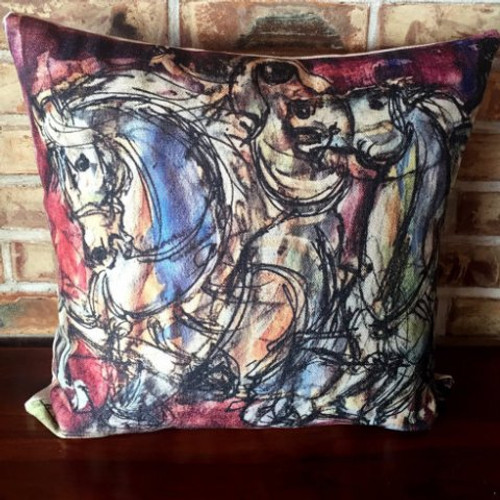 Horse Cushion Cover - Arabian Horses