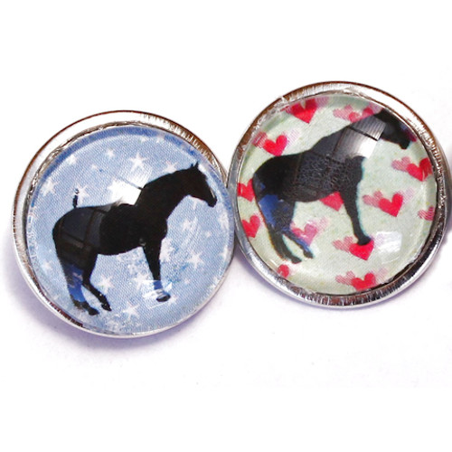 Standing Horse Snap Button