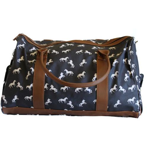 Horses Travel Bag - Navy