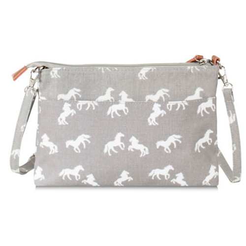 Horses Messenger Bag - Grey