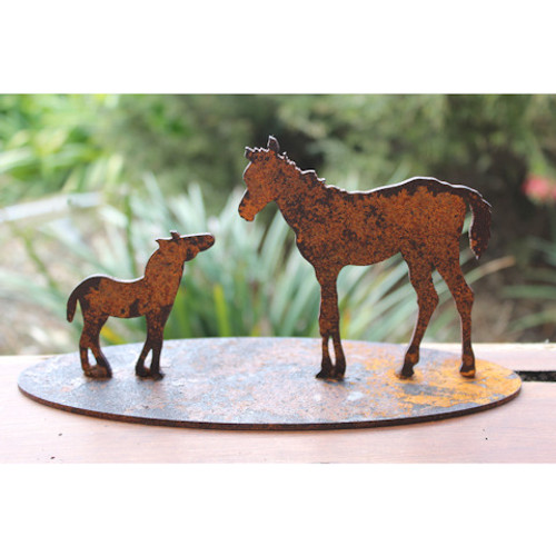 Mare and Foal Garden Art